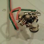 Flush mouonted rgb led with nylon 4-40 screw